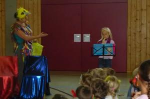 CC.Dalia begleitet auf der Flöte